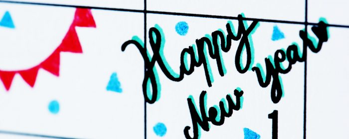 New year calendar reminder